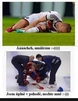 Rozdíl mezi hokejem a fotbalem