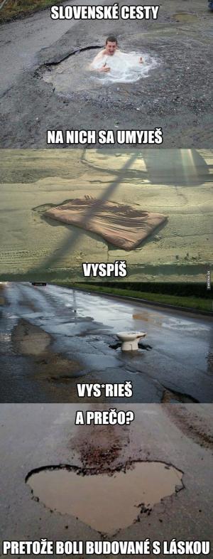 Pravda o slovenských silnicích
