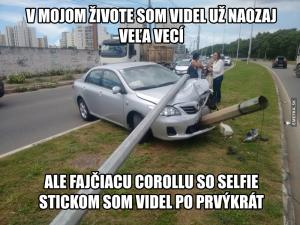 Kouřící Corolla