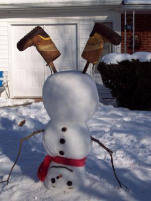 Obrácený sněhulák