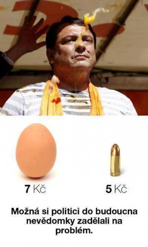 Ceny vajíček a politici