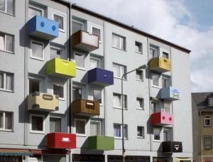 Barevné balkony