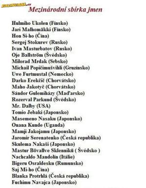 Mezinárodní jména