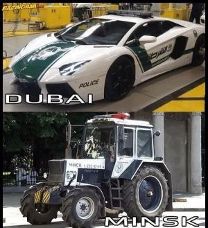Docela rozdíl u policie.