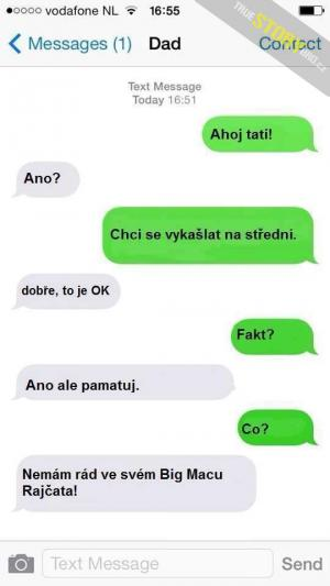 Tatínkova sms