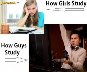 Jak se učí kluci a holky