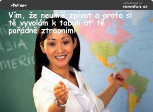 Typický od učitelky