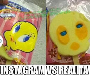 Instagram a realita