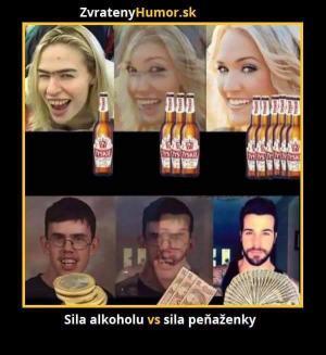 Síla alkoholu vs