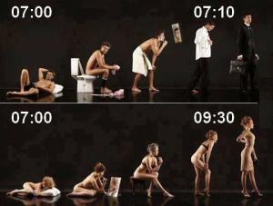 Jak vypadá ráno muže vs. ženy