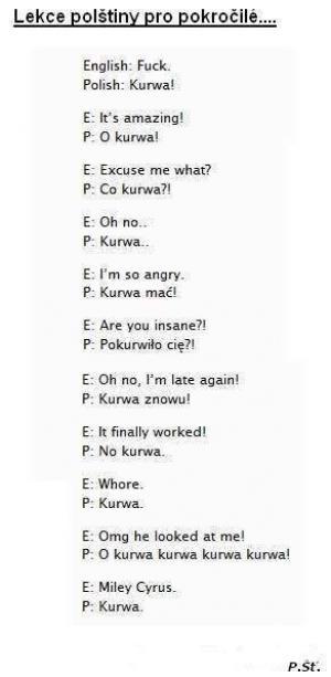 Lekce polštiny pro pokročilé