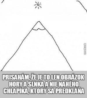 Je to jen obrázek hory
