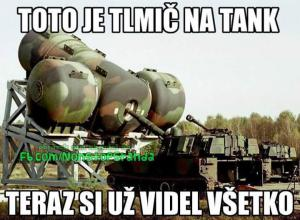 Tlumič na tank
