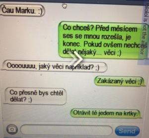 SMS s bejvalkou