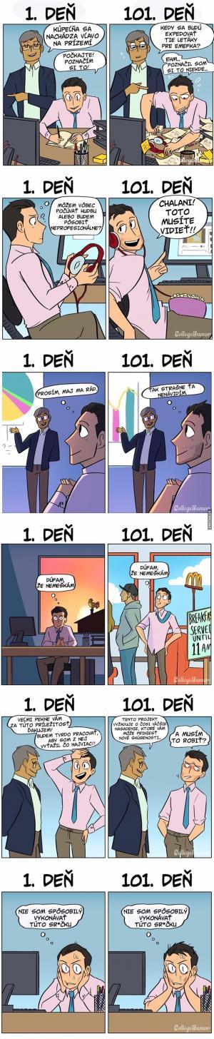 1. vs 101. den v práci