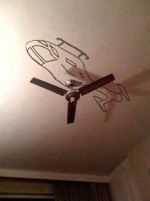 Větrák vs. vrtulník