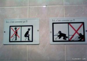 Zákazy na záchodech