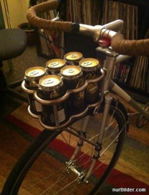 Pivní košík na kole
