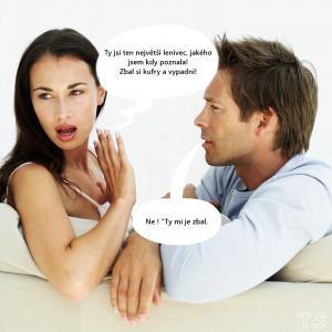 Hádka mezi mužem a ženou !!