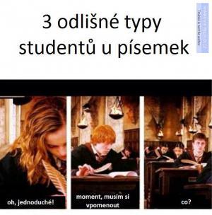 3 typy studentů