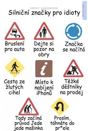 Dopravní značky pro idioty