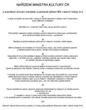 Nařízení ministerstva kultury