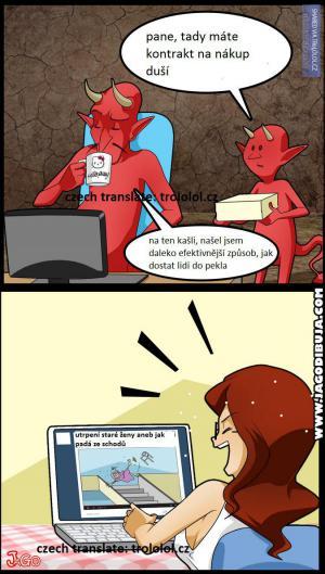 Jak dostat lidi do pekla?