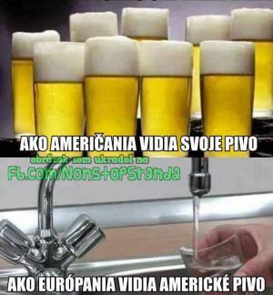 Jak Američané vidí své pivo vs. Jak Evropani vidí americké pivo