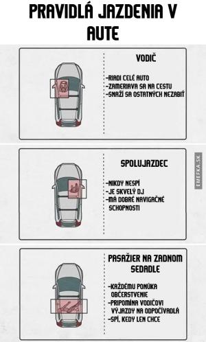 Pravidla v autě