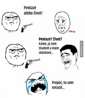 Studenti nemají peníze