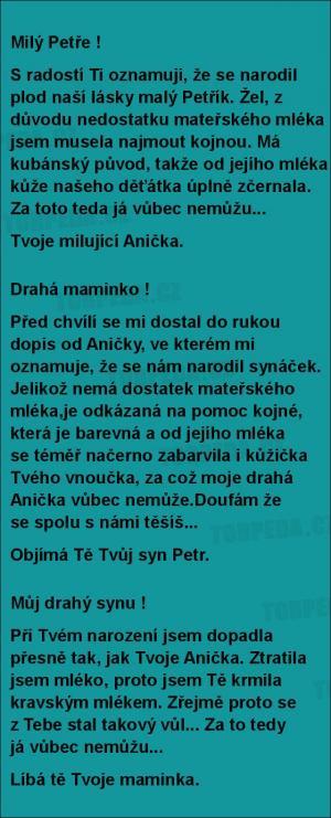 Když se narodil malý Petřík