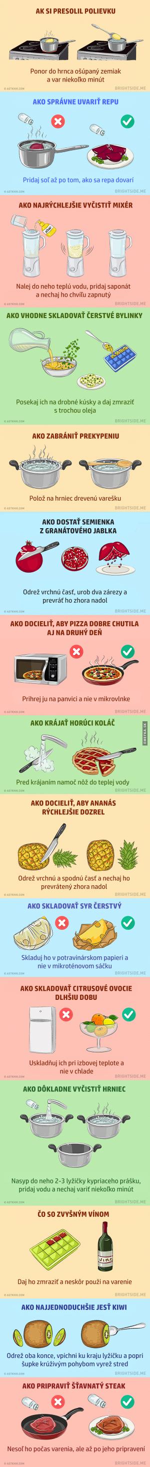 15 skvělých rad do kuchyně