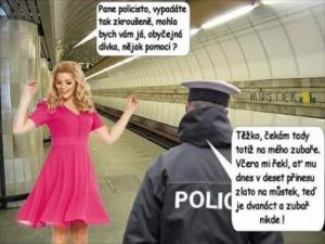 Policista na metru