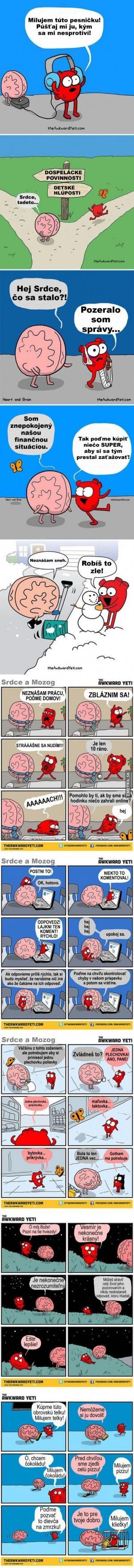 10 situací - Mozek vs. Srdce