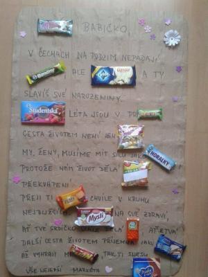 Příběh pomocí sladkostí
