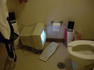 PC na záchodě