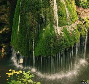 Zelený vodopád