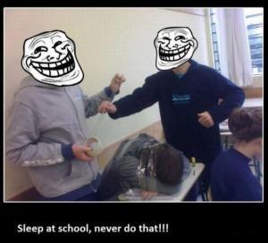 Nikdy neusni ve škole