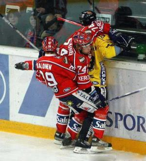 Trojka při hokeji
