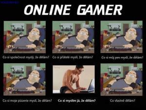 Život online gamera je jako..