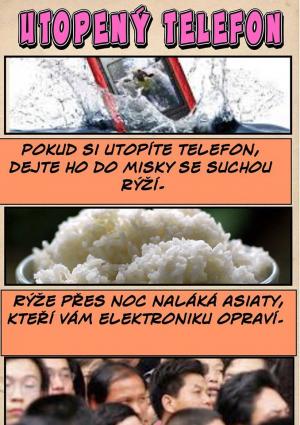 Utopený telefon