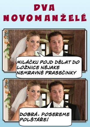 Dva novomanželé