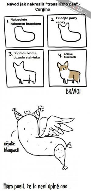 Jak nakreslit trpasličího psa