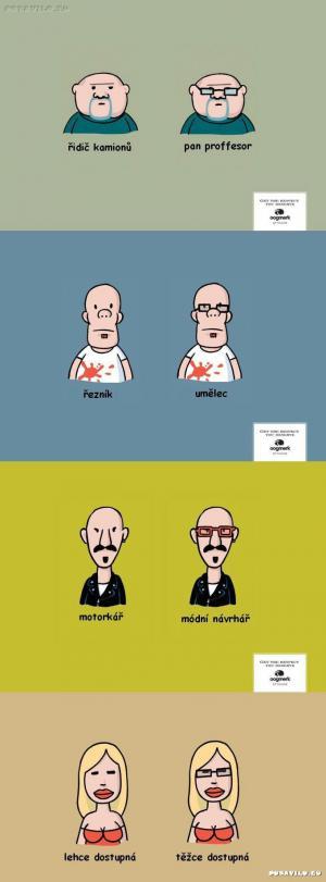 jak brýle mění image