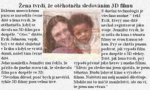 Žena otěhotněla při sledování 3D filmu