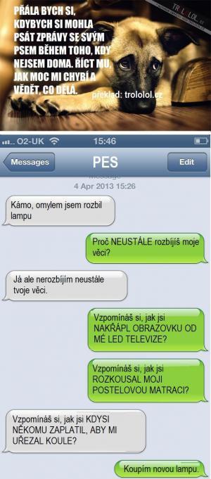 SMS se psem
