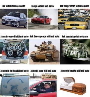 Jak vidím auto já vs. ostatní