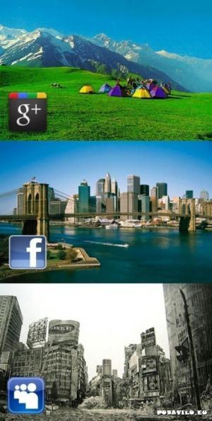 google  vs. facebook vs. my space