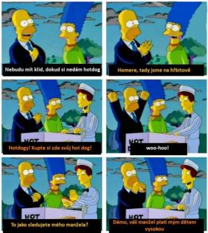 Homer a hotdog