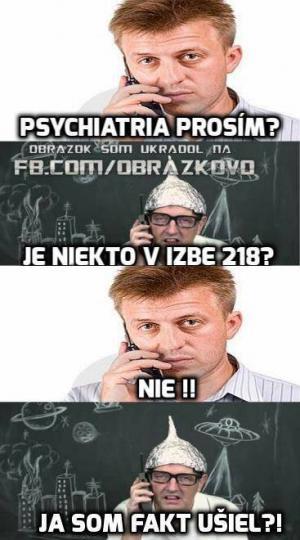 Psychiatrická léčebna, prosím